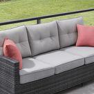 OVE Decors Bellavia 6-Piece Metal Frame Patio Conversation Set with Olefin Cushions   15PKC-BM1A06-GRY