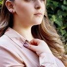 POPPY -Minimalist Huggie Hoops * small hoop earrings * open hoop earrings * dainty hoops * silver hoops