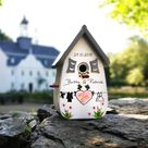 Wedding gift, birdhouse wedding gift, wedding gift, money gift hostess, personalized vintage