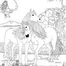 Coloriages chevaux amoureux dans bella sara - fr.hellokids.com