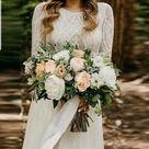 UK White ivory Long Sleeve Chiffon Boho A Line Beach Wedding Dresses Size 6-18  | eBay