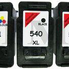 3x Tintenpatrone Kompatibel für Canon Pixma MX520 PG540XL Schwarz CL541XL Farbe