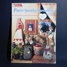Purr-fectly Country Book 8 Sew No More Patterns Instructions for Cat Themed No-Sew Fabric Projects Home Decor
