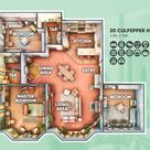 Here's the floorplan of a colorful 20 Culpepper House renovation I did recently. It can accommodate a family of 6. No CC!