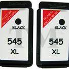 2 X PG-545XL Druckerpatrone schwarz für Canon Pixma MX495 Druckers