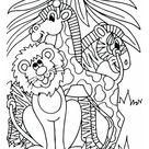 Kleurplaat leeuw giraf en zebra. Gratis kleurplaten om te printen