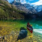A crystal clear water of Lake O'Hara, Yoho National Park, Canada