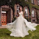 Deep V-Neck Backless 2 IN 1 Mermaid Wedding Dress