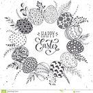 Easter eggs wreath stock vector. Illustration of hand - 88480840