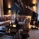 Cream and Black Living Room