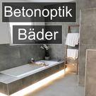 Fugenlose Badezimmer in Betonopik für Wand und Boden