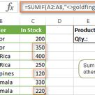 How to use SUMIF function in Excel to conditionally sum cells