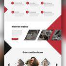 Agency Creative Website Template Free PSD | PSDFreebies.com