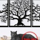 Arbre de vie en métal Arbre Décoration murale en métal Family Tree Décoration