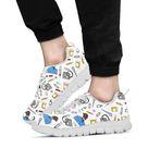 Women's Scrubs  Sneakers - Black Character - White / US7 (EU38)