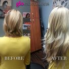 Hair Extensions Before After Pics by Glo Extensions Denver