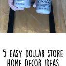 5 Easy Dollar Store Home Decor Ideas DIY