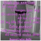 Thigh Gap Exercise