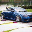 Charming Custom Blue Audi TT on Chrome Buttoms