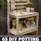 65 DIY Potting Bench Plans (Completely Free)   Epic Gardening