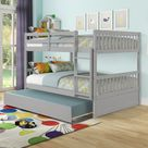 Evelyn Full over Full Bunk Bed with Trundle (Grey)