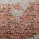 Brown Brick Layer Digital Wallpaper M9226 - Inches / Non-woven matt- $10.40/sq. feet
