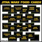 Star Wars Printable Party Food Card Labels - INSTANT DOWNLOAD - Pdf Files - With 24 Prefilled Tented Cards + a FREE Sign