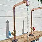 Paar Kupferrohr drehbare Wasserhahnhähne