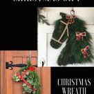 Christmas wreath, horse wreath, Christmas ornament, outdoor Christmas decoration