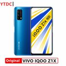 Original New Vivo IQOO Z1X 5G Smart Phone 6.57 Inch 120Hz Screen 5000mAh Battery 33W Super VOOC Cell Phone - Add 2pcs Glass film / 8GB 128GB Black
