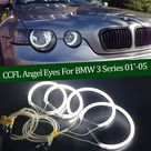 USD$14.72 Hight Quality CCFL Angel Eyes Kit Warm White Halo Ring For BMW 3 Series E46 Compact 2001 2002 2003 2004 2005 Demon Eye