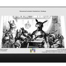 1000 Piece Puzzle. Humanized animals illustrations Donkeys