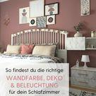 Schlafzimmer Ideen Altrosa & Grau: Schlafzimmer einrichten Pt. 1 – Farbe, Deko & Licht