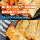 Keto Chicken Bacon Ranch Taquitos
