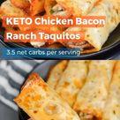 Keto Chicken Bacon Ranch Taquitos