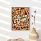 Flower Power 70s Floral Pattern Print Hippie 60s Decor | Etsy
