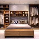 Guarda roupas com camas embutidas de casal planejados