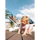 MEGAWOOD Terrassendiele WPC Barfußdiele CLASSIC massiv nussbraun - Stärke/Breite 21x145 mm, Länge 4,2 m, fein geriffelt / grob geriffelt, Massivprofil