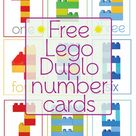 Free Lego Duplo Number Cards