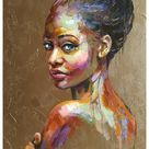 contemporary art painting woman