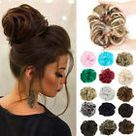 Real Thick Ponytail Clip In REMY Human Hair Extensions Wrap Around Pony Tail US    eBay