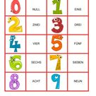 Zahlen von 1-20 - Memory Spiel