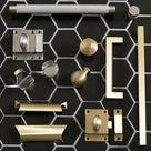 Davenport Cabinet Latch   Satin Brass