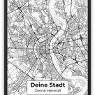 Stadtkarte - Design No. 6 - POSTER 45 x 60 / seidenmatt / 250 g/m² / gedruckt / Versand per Post - (Lieferzeit: 4 - 6 Werktage)