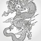 Tradition Asian Dragon Illustration Stock Vector (Royalty Free) 64115869