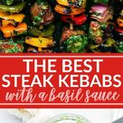 Steak Kebabs with a Basil Sauce   Chelsea's Messy Apron