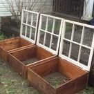 Alte Fenster – neue Mini Gewächshäuser für Balkon und Garten