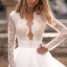Individual size A-line silhouette Marvel wedding dress. Modern style by DevotionDresses
