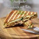 Gegrilltes Thunfisch-Sandwich mit Feta