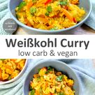 Weißkohl Curry low carb vegan